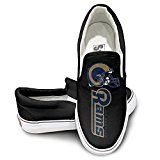 SSDDFF Unisex Design Sport Shoes Los Angeles American Football Team Rams Sporting Black