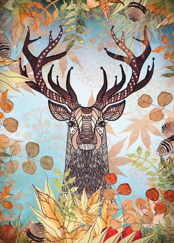 AUTUMN STAG AUTUMN STAG Gallery quality print