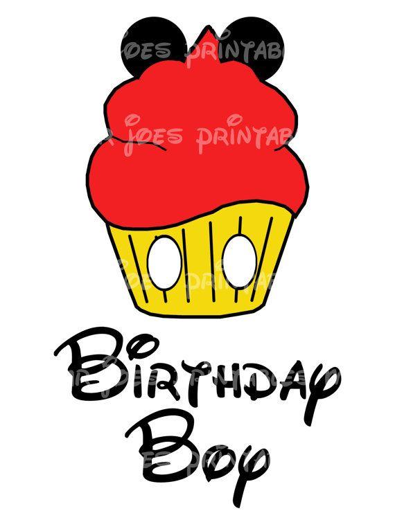 Mickey Mouse Cupcake Printable Birthday Boy by mrjoesprintables, $5.00