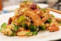 Mancare chinezeasca cu porc si legume