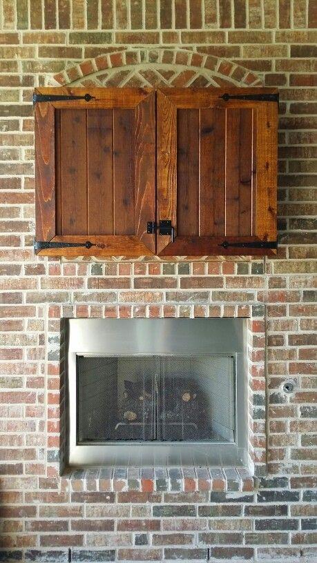 Cedar Outdoor TV Cabinets