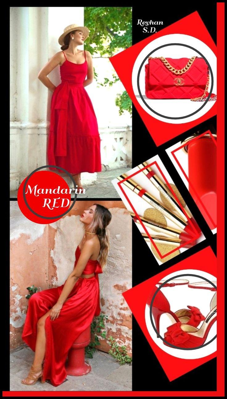 ''Mandarin Red'' Pantone AW/20202021 LondonFW Color