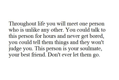 Even though I do not believe in soul mates