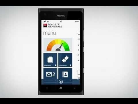 L'appli Société Générale sur Windows Phone