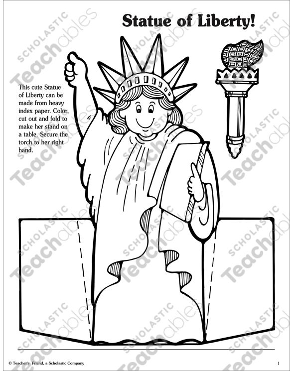 Statue Of Liberty Activities Printable Arts Crafts And Skills