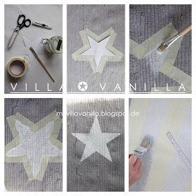 Villa ✪ Vanilla: DIY Sternen- oder Streifenteppich