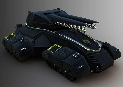diogo+valle+  future+battle+tank+concept+  railgun  EMP+blaster+cannon+video+game