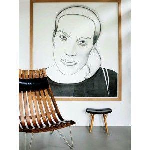 Cadeira e Banquinho de Madeira: