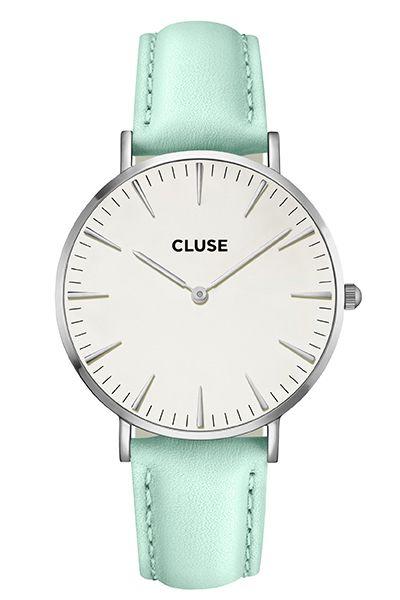 CLUSE La Boheme Silver White/Pastel Mint Watch CL18225 Buy Sydney Australia