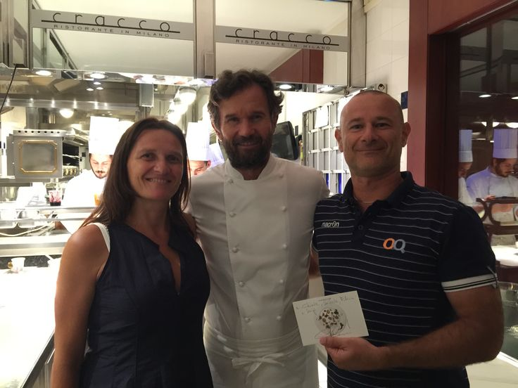 with Carlo Cracco chef in Milan