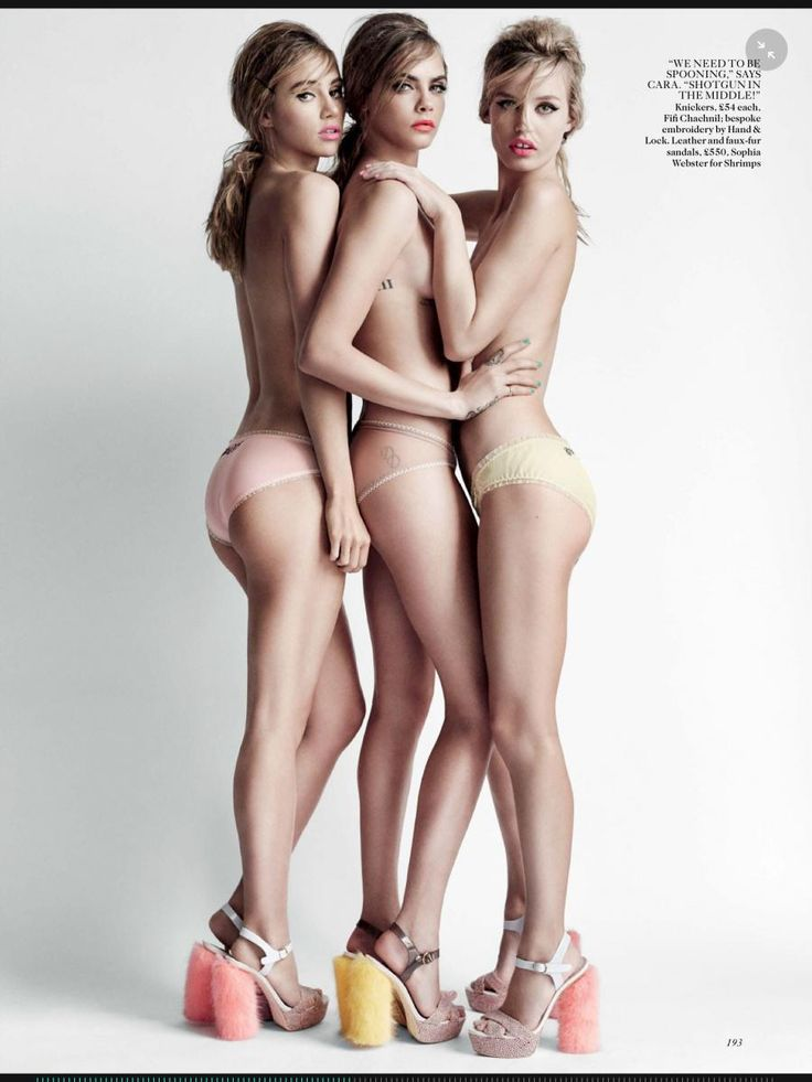 Georgia May Jagger, Cara Delevingne and Suki Waterhouse by Mario Testino for Vogue UK, April 2015.