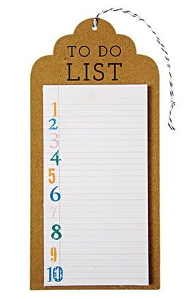 Gift for mom: An adorable to-do list pad will help her keep track of every task.