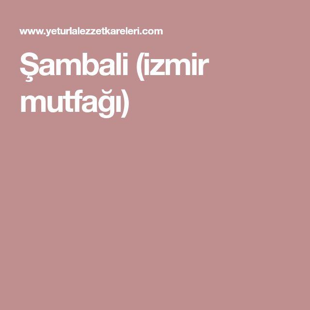 Şambali (izmir mutfağı)