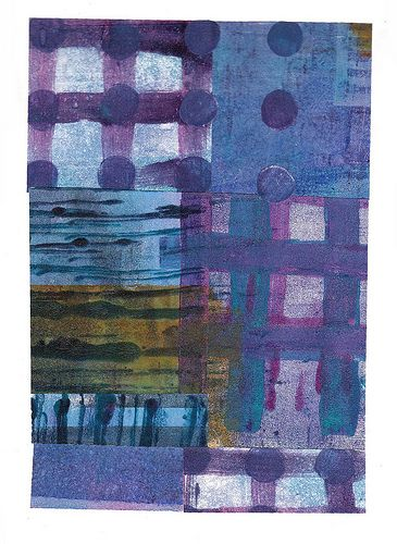 paper collage created form gelli prints