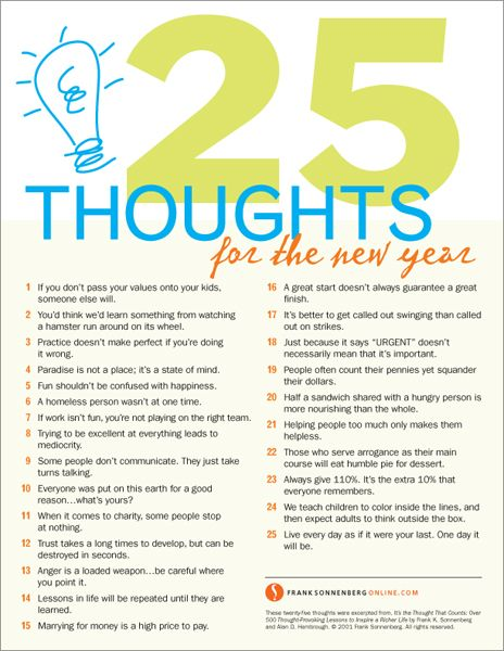 25 Thoughts for the New Year JournalProduct Ideas