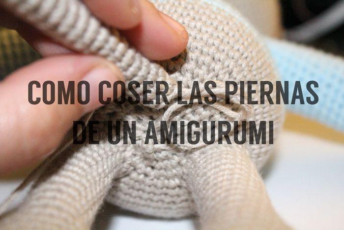 Vt. idea para coser las piernas de los amigurumis