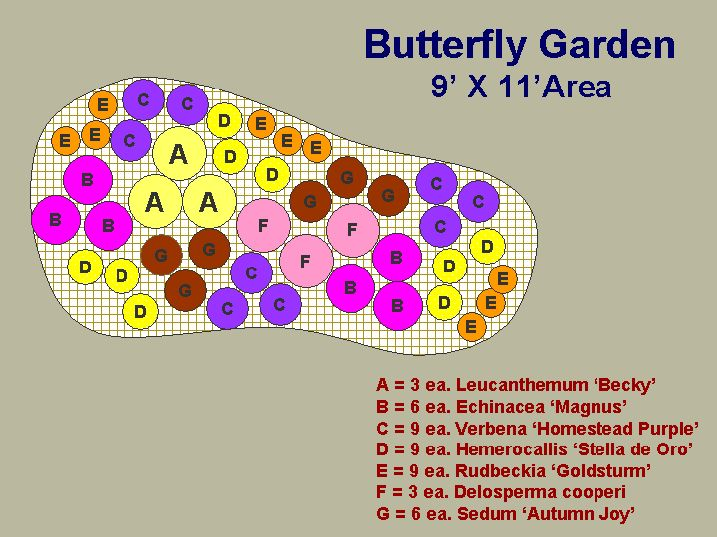 Butterfly Garden Outline... Would Be A Great Idea Around The Tree In The