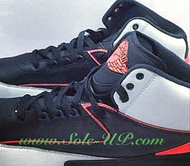 Air Jordan II - Cool Grey / Black - Red (2014) - Zajawka