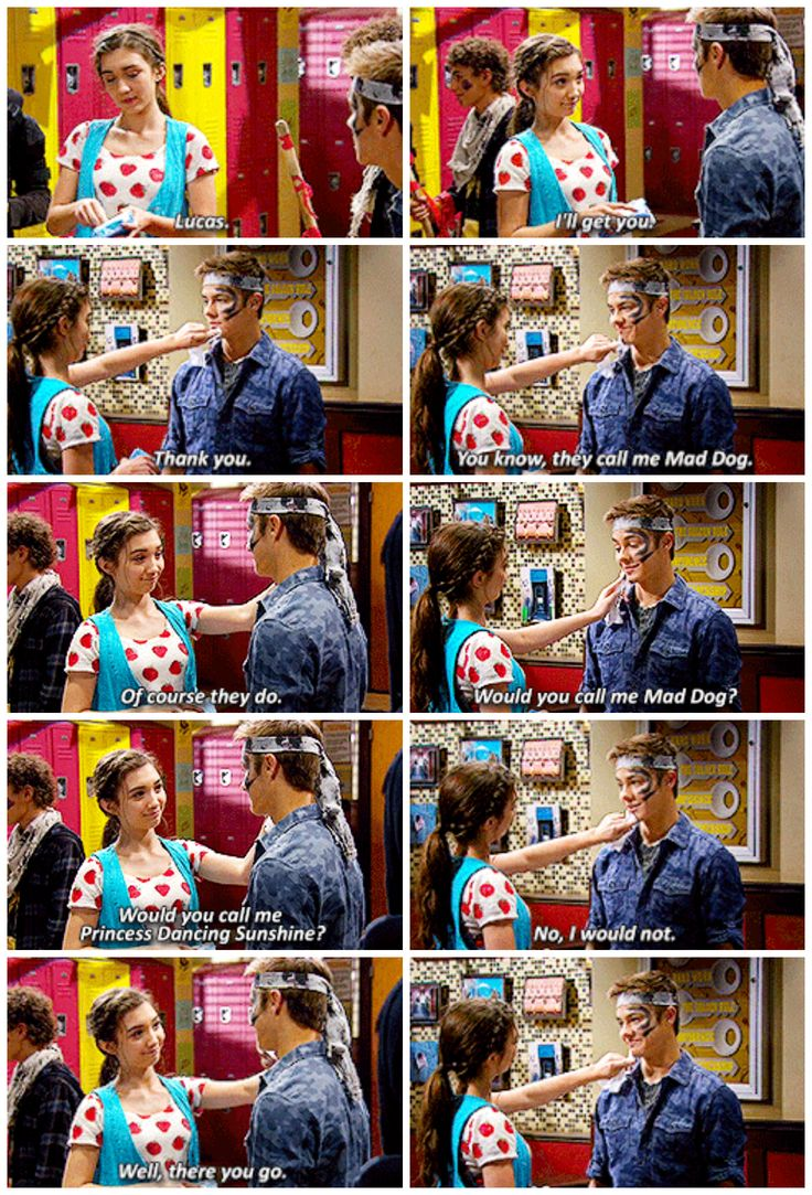 "#GirlMeetsWorld 2x07 ""Girl Meets Rules"" - Riley and Lucas"