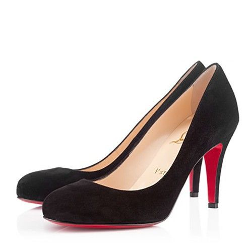 My Xmas pressie :) Christian Louboutin Ron Ron Suede Pumps Black