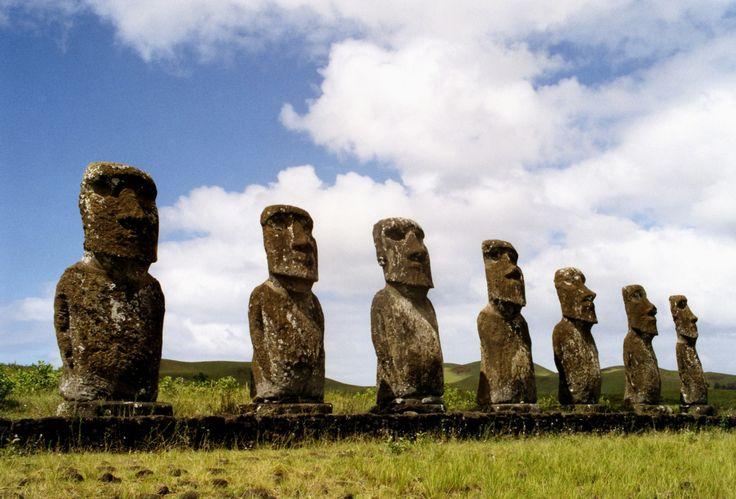 Botocudos descenderiam dos rapanui da Ilha de Páscoa, povo que construiu os moais (Foto: anoldent/flickr/creative commons)