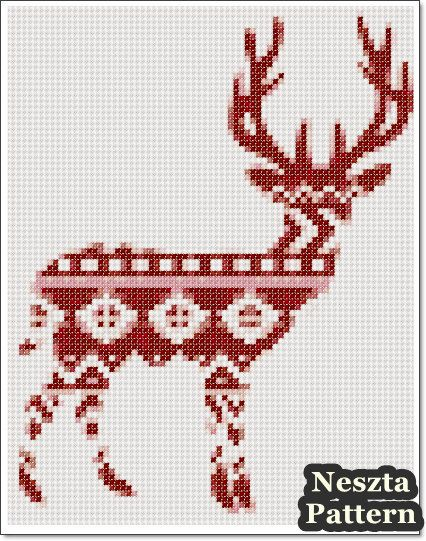 Excited to share the latest addition to my #etsy shop: Reindeer Norwegian pattern Cross Stitch Pattern, Reindeer x stitch pattern, Cross stitch Embroidery, Embroidery pattern http://etsy.me/2iWafZL #supplies #crossstitch #embroidery #crossstitchpattern #tutorial #diy #xstitc