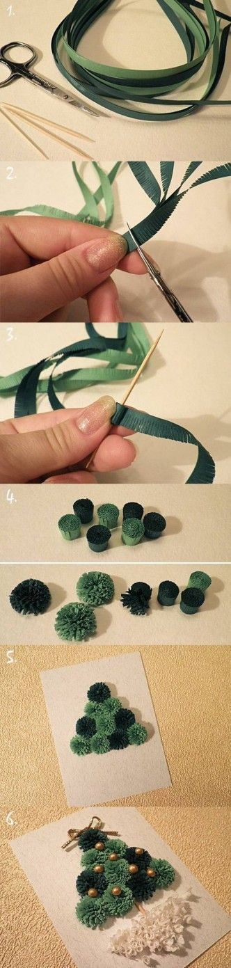 DIY Quilled Christmas Tree Card Internet Tutorial DIY Projects