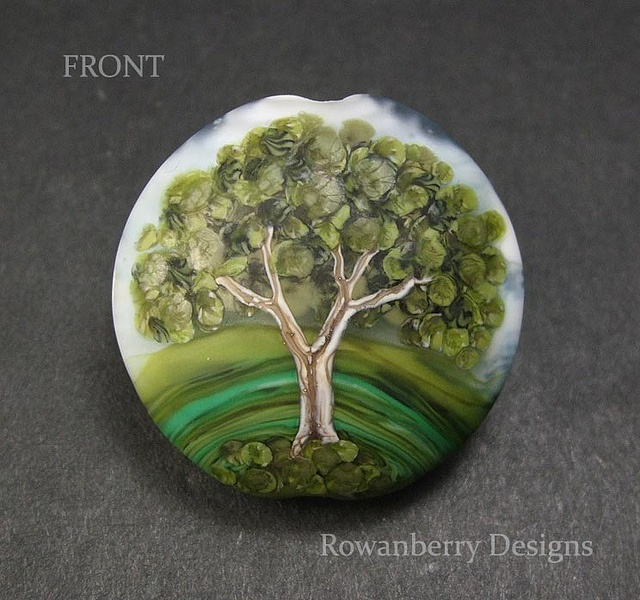 Gorgeous tree bead by Rowanberry Designs