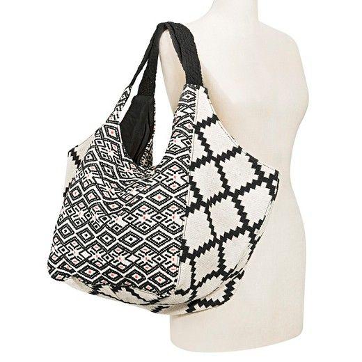 Women's Macrame Handle Hobo Handbag White - Mossimo Supply Co : Target