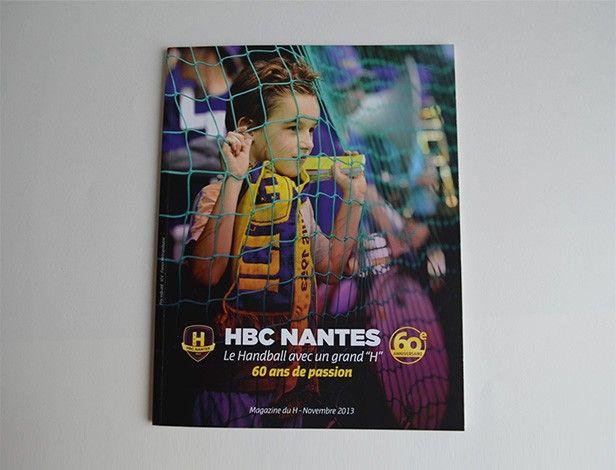 Réalisation du magazine paru à l'occasion du 60ème anniversaire (en 2013) du club de Handball Nantais. L'histoire du club, ses chiffres, le secteur amateur, de nombreuses photos inédites, l'ascension jusqu'au niveau européen, on retrouve dans cet ouvrage d'une trentaine de pages 60 ans de passion avec un grand H !