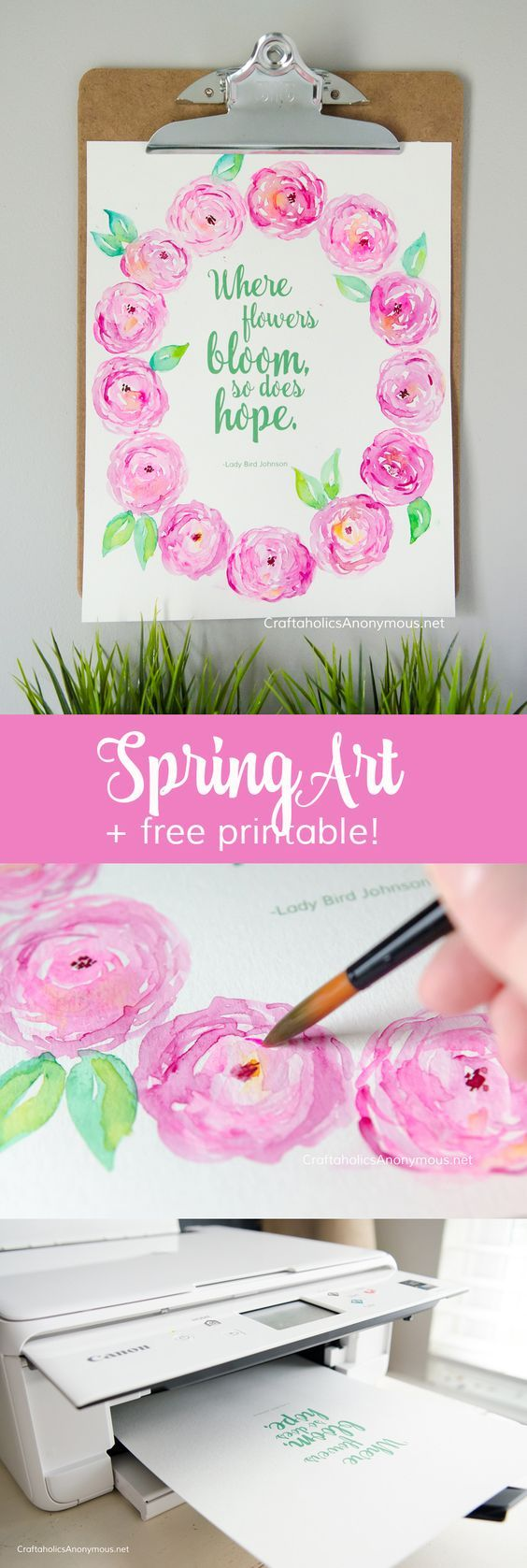 Spring Crafts heal the soul. This could be used for making cards or a tattoo design?? Love this spring decor idea.