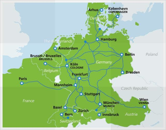 Ice High Speed Trains Europe Train Train Map Speed Training