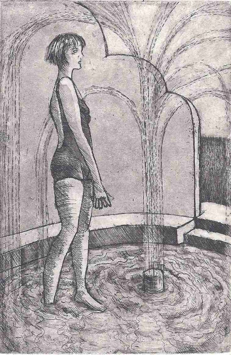 Michelle Hagger, Reflection, Etching, $160