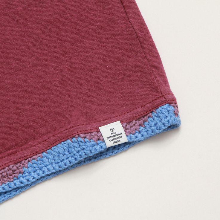 CNCPTS / Visvim Crochet Hem Tee S/S (Purple)