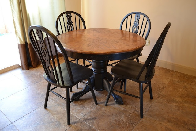 35 best images about refinished oak tables on pinterest stains refinished table and china - Refinishing a kitchen table ...