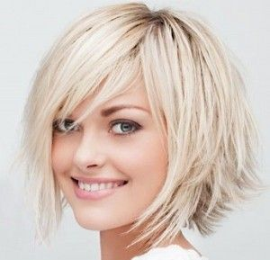 Love this cut, but couldn't pull off this much blonde.