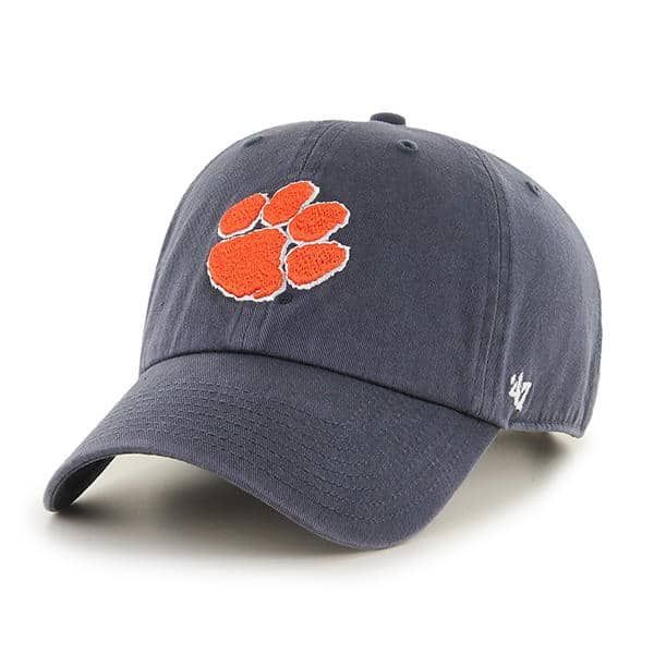 2be49aa8 Clemson Tigers Women's 47 Brand Vintage Navy Clean Up Adjustable Hat ...