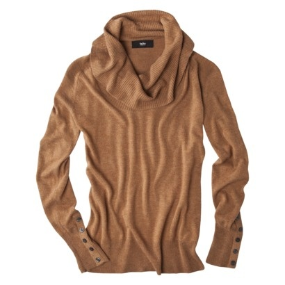 Camel Cowl Neck Sweater  $22.00