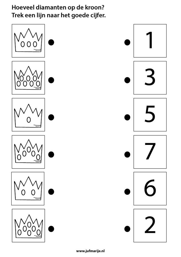 Tel het aantal diamanten op de kroon