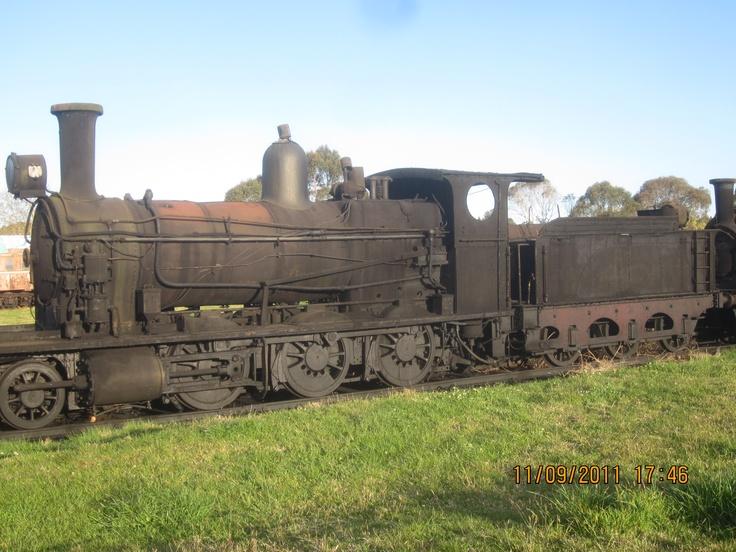 NSWGR Steam Locomotive sitting derelict in a paddock at Dorrigo NSW Australia