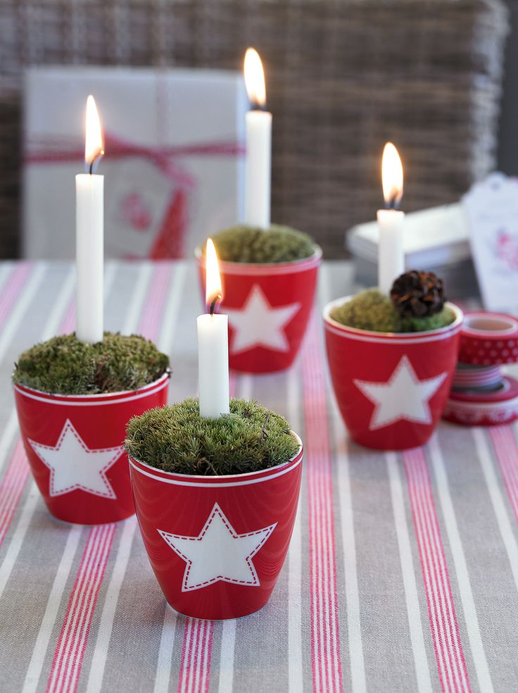 Advent, Advent .... skalender mit den süßen Espresso Cups Star Red von Green Gate gezaubert!