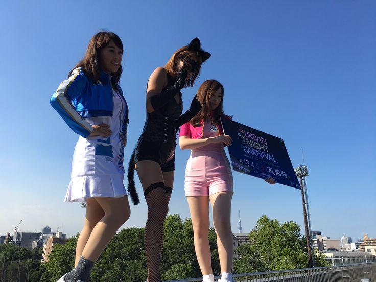 川崎競輪GIIIアーバンナイトカーニバルのPRにおてんばキャット、Kawasakiハニーの桐島唯チャン、Kawasakiレディーの渡邊博子チャンが東スポに来てくれたよー(o^^o) #keirin #競輪 #東スポ