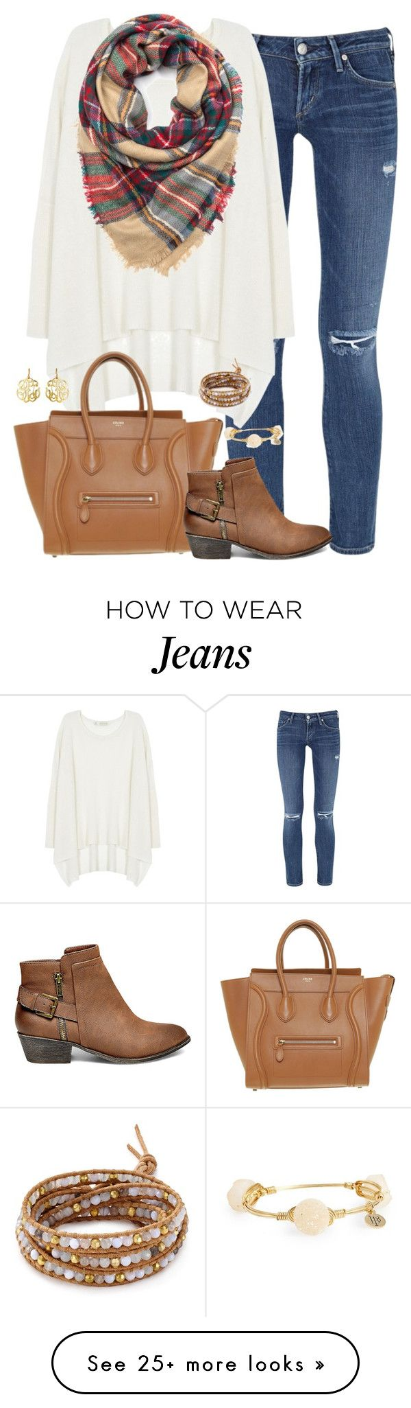 """""""♡ every day is a fresh start ♡"""" by kaley-ii on Polyvore featuring Citizens of Humanity, Century Seven, CÉLINE, Steve Madden, Bourbon and Boweties, Chan Luu and Susan Shaw"""