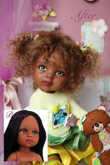 Девочка из сердца Африки. Шоколадка Лили - ООАК куклы Paola Reina / Paola Reina, Antonio Juan и другие испанские куклы / Бэйбики. Куклы фото. Одежда для кукол