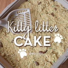 This kitty litter cake is the ultimate way to fool your little ones on April Fools' Day
