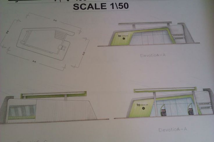 Elevations and Sections Design Handy Sketch