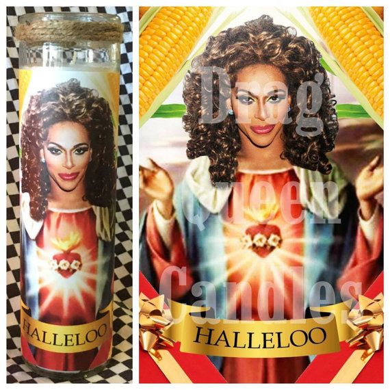 Shangela Laquifa Wadley Prayer Candle  Free by DragQueenCandles