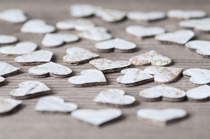 Hochzeitsdeko - 50pics Papierherzen , Karton Herz - ein Designerstück von HQSupplies bei DaWanda