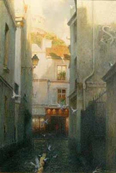 Andrei Krioutchenko, Rue Rustique - Montmartre, Paris