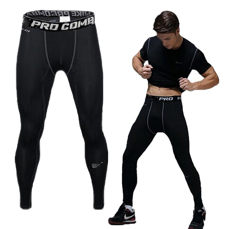 PRO Quick-drying mens pants tight sports fitness training outdoor brand compression mens joggers sweatpants gym pants trousers